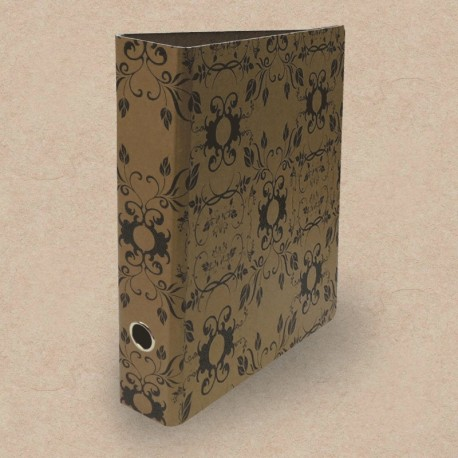 Metall Ordner mit floralem Muster, Metall Ordner,