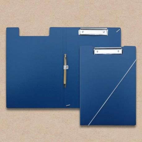 Klemm-mappe Blau mit Kugelschreiber