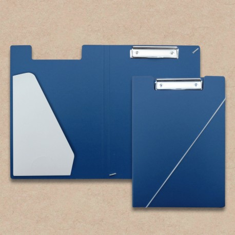 Klemm-mappen aus Karton blau Steckfach Weiss, Klemmmappen,