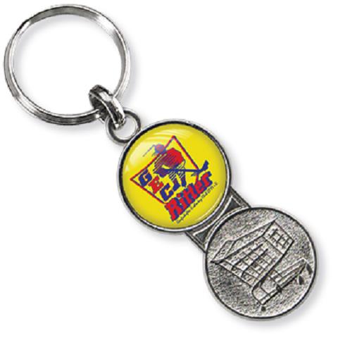 Metall-schlüsselanhänger Einkaufswagenchip, Metall-schlüsselanhänger, Schlüsselanhänger Einkaufswagen-chip,