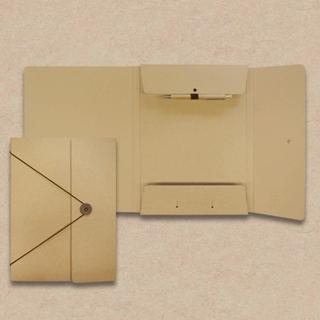 Collegemappen in Karton-Optik mit Kugelschreiber