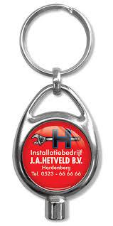 Metall Schlüsselanhänger Coin mit Lufty