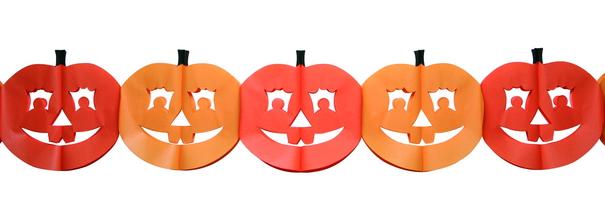 Papiergirlanden Kurbis, Halloween Kurbis