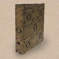 Ordner aus Natur-Pappe // Florales Muster