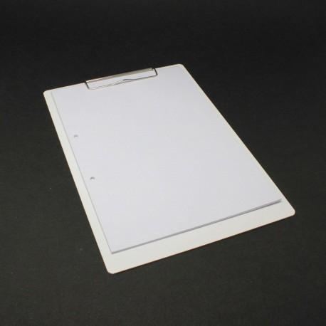 Klemmbrett aus Karton, weiß, DIN A4