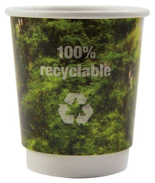 Becher Recy-cups oder Papp-becher recy-cups for den Werbung