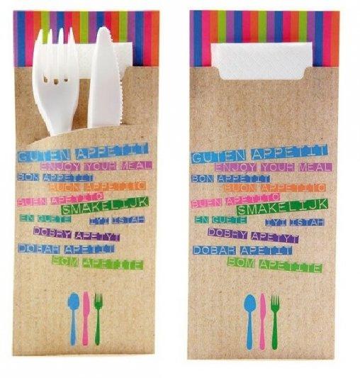 Bestecktaschen, Besteck-taschen, Bestecktaschen Restaurant, Papier Bestecktaschen, Werbe Bestecktaschen,