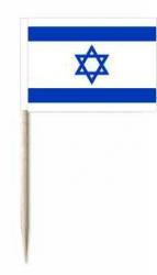 Israel Käsepicker oder Holzpicker und Minifähnchen