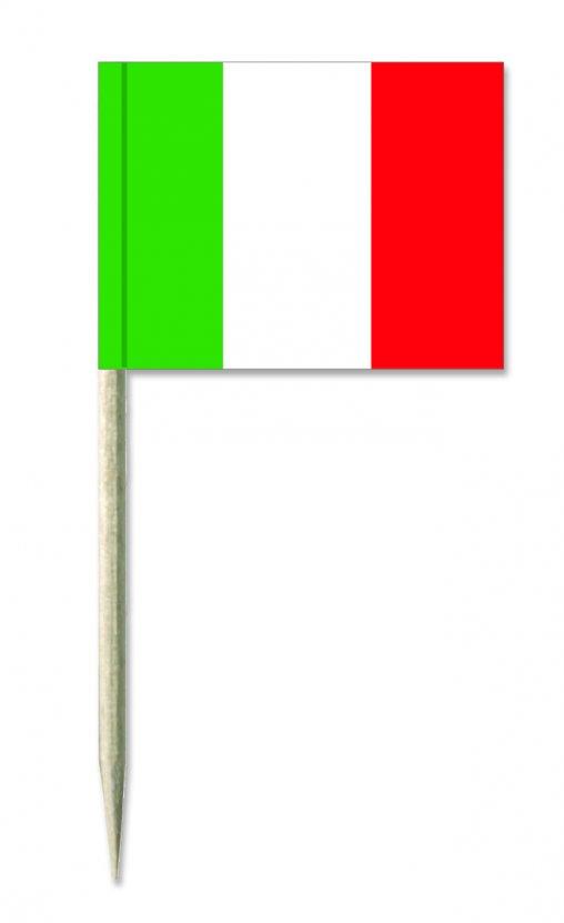 Italien Käsepicker oder Holzpicker und Minifähnchen