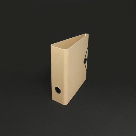 Ordner in Karton-Optik DIN A5, Verschluss-Scheibe