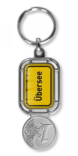 Schlüsselanhänger mit Winkelwagenlöser oder Schlüsselanhänger und für den Werbung.