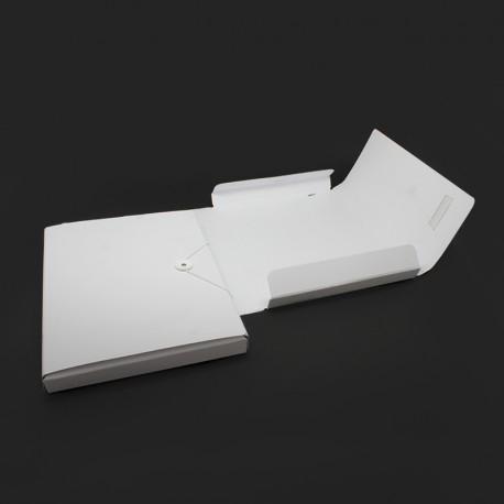 Sammelmappe weiss aus Karton für den Büroartikel und den Werbung