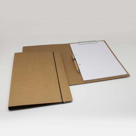 Schreib-mappen aus Natur-Pappe oder Büro Schreib-mappen