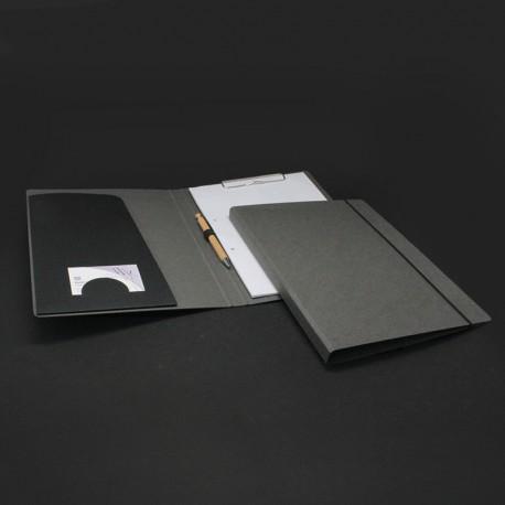 Schreibmappe Grau aus Natur-Pappe