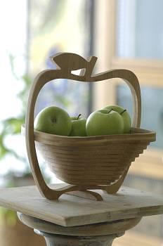 Obstkorb oder apfel-korb für den Geschenke oder Werbung