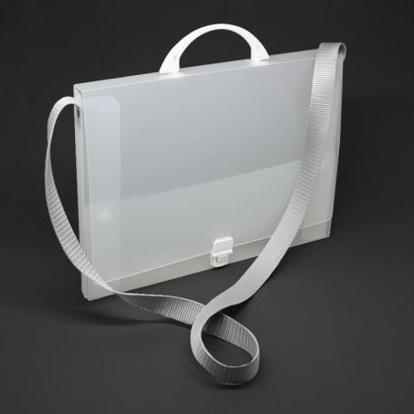 Prospektkoffer aus Kunststoff, Prospektkoffer mit Schultergurt,