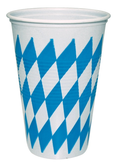 Trinkbecher-Oktoberfest, Trinkbecher Bayern, Kunststoff-Becher,