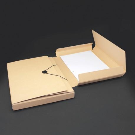 Sammelmappe in Karton-Optik Rücken 3,5 cm