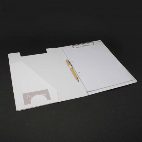 Klemmmappe weiß Klemmmappen aus Karton weiß
