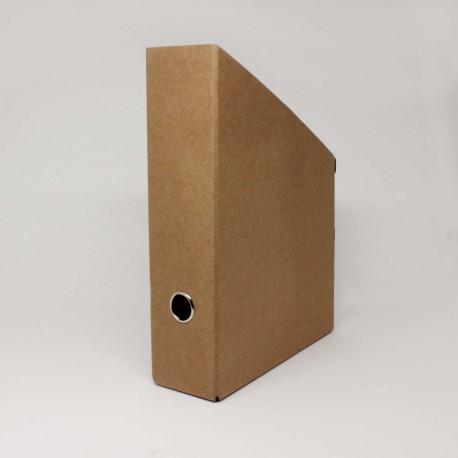 Stehsammler aus Natur-Pappe mit Metallring