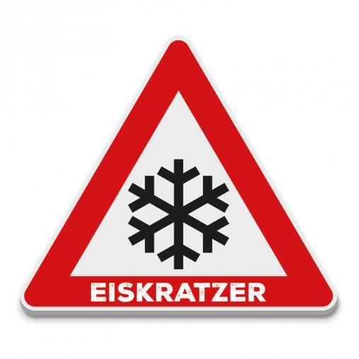 Eiskratzer Straßenschild für werbung oder für den Autohaus