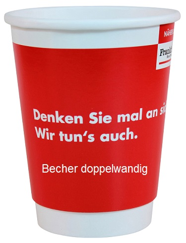Becher Papp Becher Becher Doppelwandig Werbe Becher TV-Werbemittel