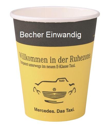 Becher Papp Becher Becher einwandig Becher Mercedes TV-Werbemittel