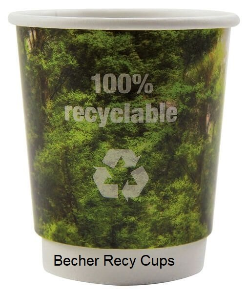 Becher Recy cups Papp becher Recy cups recy Cup Becher Papp Becher TV-Werbemittel