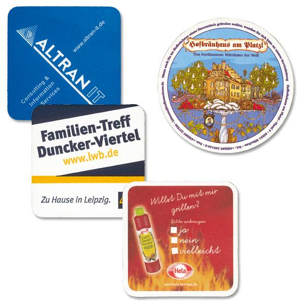 Bierdeckel für den Brauerei und Restaurants auch Werbung