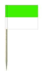 Grün / Weiß Minifähnchen oder Diverse Motive Fähnchen und Holzpicker