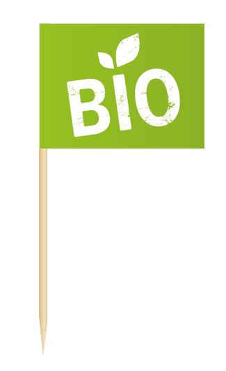 Minifähnchen Bio, Minifahnen Bio, Flags BIO, Minifaehnchen Speisenkennzeichnung,