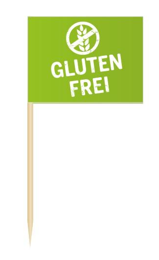 Minifähnchen Glutenfrei, Minifahnen Glutenfrei, Flags Glutenfrei, Minifähnchen Speisenkennzeichnung,
