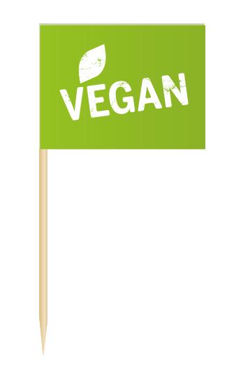 Minifaehnchen Vegan, Minifahnen Vegan, Flags Vegan, Minifaehnchen Speisenkennzeichnung,