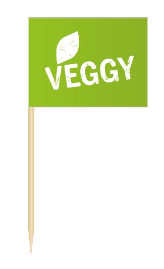 Minifähnchen Veggy, Minifahnen Veggy, Flags Veggy, Minifähnchen Speisenkennzeichnung,