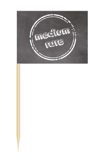 Minifähnchen medium rare, Minifahnen medium rare, BBQ Flags medium rare, Minifähnchen Speisenkennzeichnung,