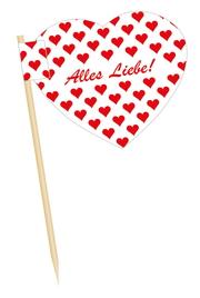 Minifahnen Herz Käsepicker mit Herz oder Minifähnchen Herz für die Veranstaltung und Events auch für die Werbung oder für die Party 🥳