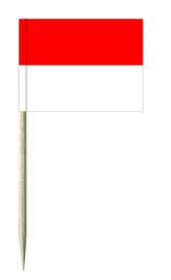 Rot / Weiß Minifähnchen oder Diverse Motive Fähnchen und Holzpicker