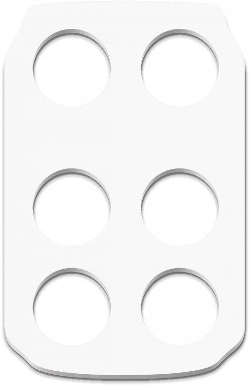 Becher-halter in Weiss oder Becherhalter