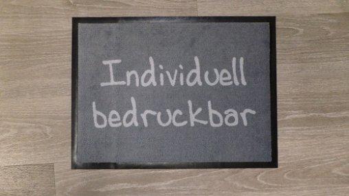 Fußmatten individuell-grau oder Fußmatten bedrucken