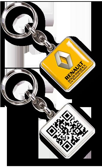 Metall-Schlüsselanhänger QR-Event,