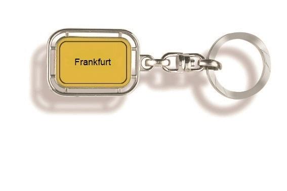 Frankfurt Schlüsselanhänger, Schlüsselanhänger Stadt, Schlüsselanhänger