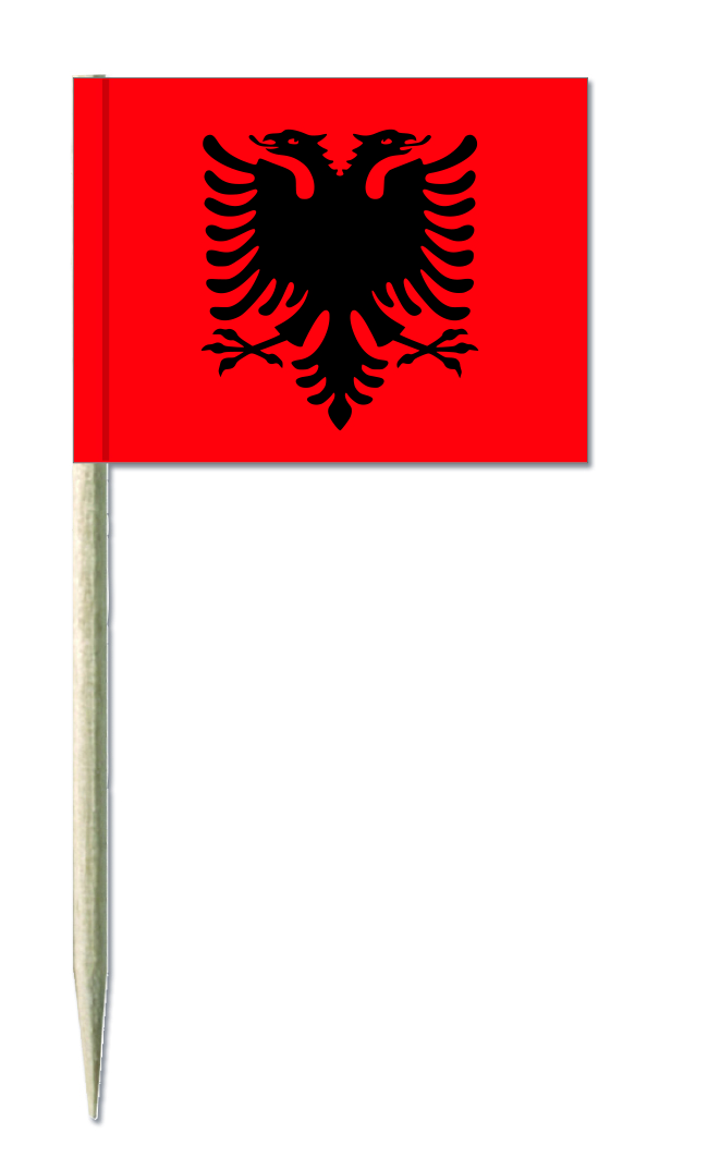 Albanien Minifahnen, minifahnen kostprobenpicker, Käsepicker, Holz-picker, Minifahnen,
