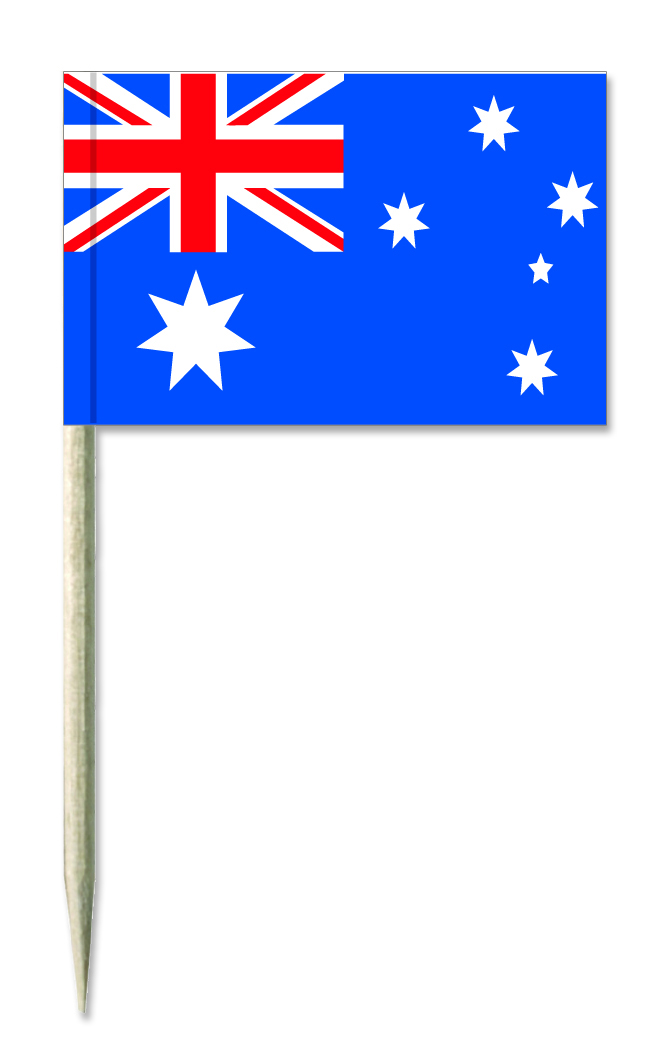 Australien Minifahnen, Minifahnen, Minifähnchen, Holz-picker, käsepicker,