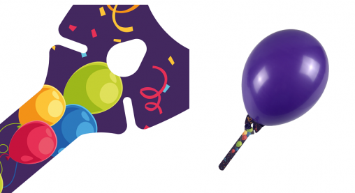 Ballon-halter Purple, Ballon-halter, Ballon-halter Purple, balloon-grip Purple, Ballons-halter.