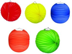 Ballon-laternen, Laternen, Ballon-laternen bunt,