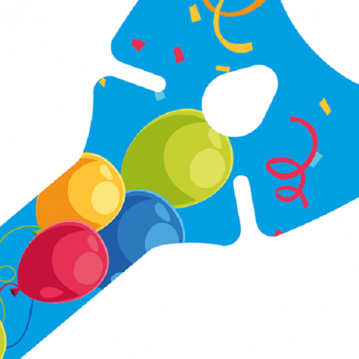 Ballons-halter blau, Ballon-halter blau, Ballon-halter, balloon-grip Blue, balloon-grip blau,