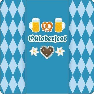 Bierdeckel Oktoberfest, Bierdeckel eckig Oktoberfest, Bierdeckel eckig, Oktoberfest, Oktoberfest Artikel,