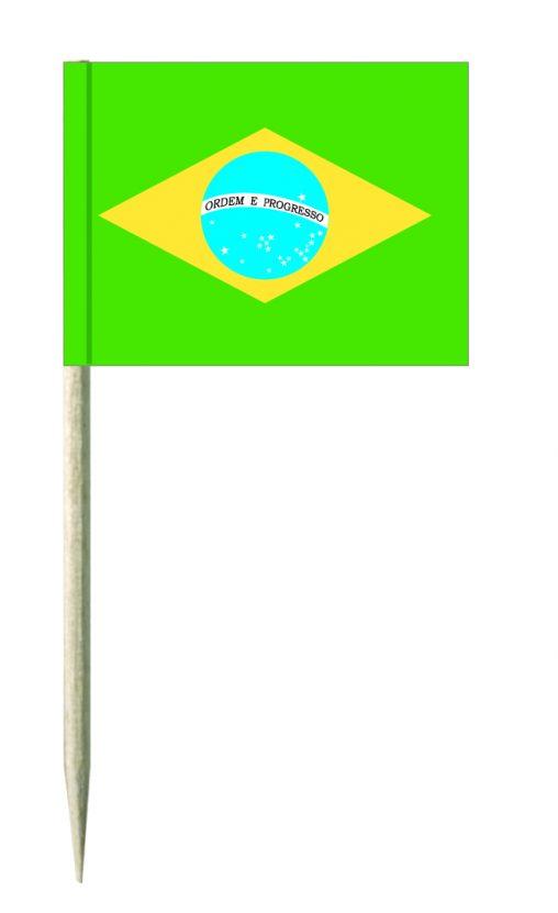 Brasilien Minifahnen oder Käsepicker und Holz-picker