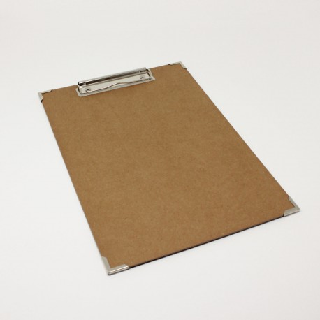 Clipboard aus natur pappe mit Metallecken