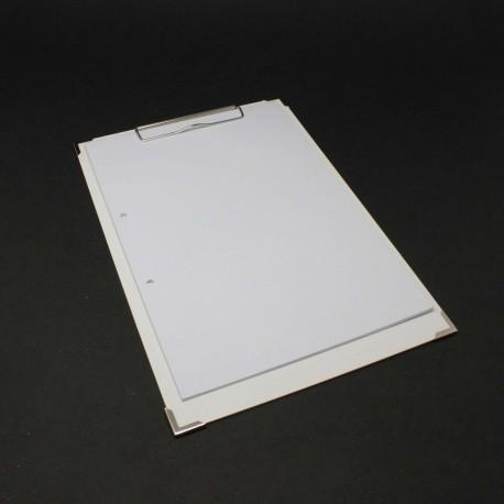 Clipboard für-DIN A4 mit Metallecken, klemmbrett bedruckbar,